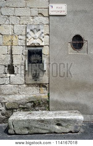 Signs On The Wall Of Saint Jaques Church