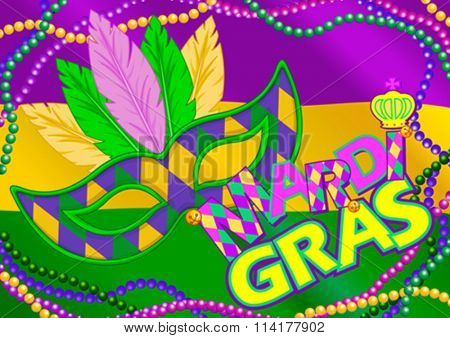 Mardi Gras mask design background