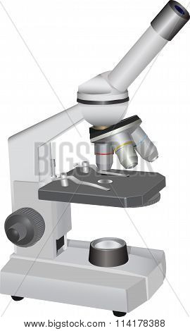 Microscope Vector Illustration