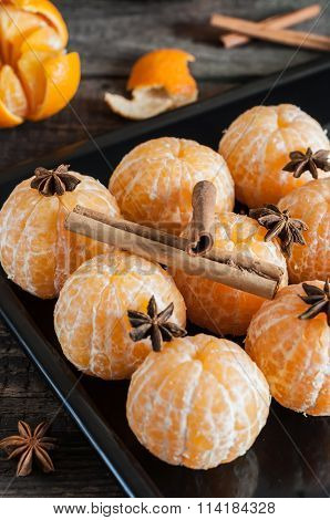 Fresh Peeled Tangerine, Anisetree And Cinnamon
