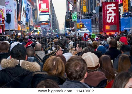 New Years Eve Crowd Times Square