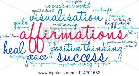 Affirmations Word Cloud