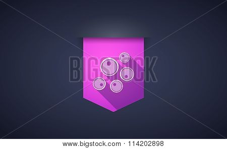 Long Shadow Ribbon Icon With Oocytes