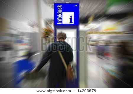 Tourist looking for information