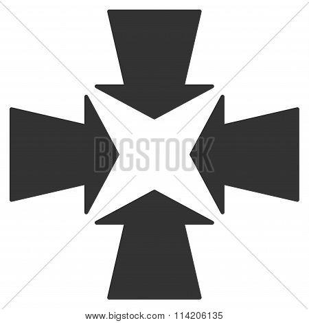 Shrink Arrows Flat Icon