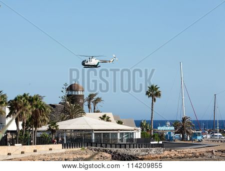 FUERTEVENTURA, SPAIN - SEPTEMBER 6, 2015: Marina in Caleta de Fuste Fuerteventura Canary Island Spain
