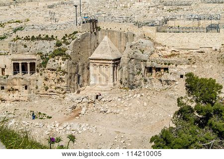 Kidron Valley or Kings Valley Tomb of Zechariah near the Old City of Jerusalem