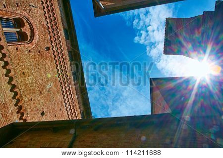 Old castle of Grinzane Cavour in Piedmont