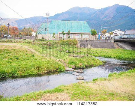 Natural view of Mountain Yufu in Yufuin