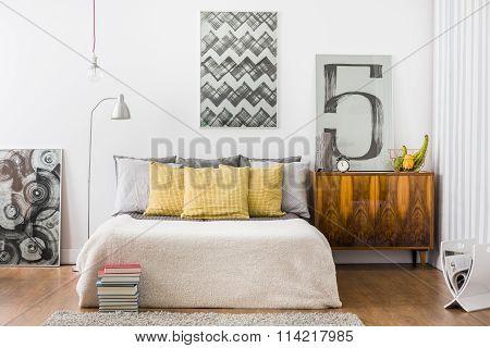 Bright Snug Bedroom Interior