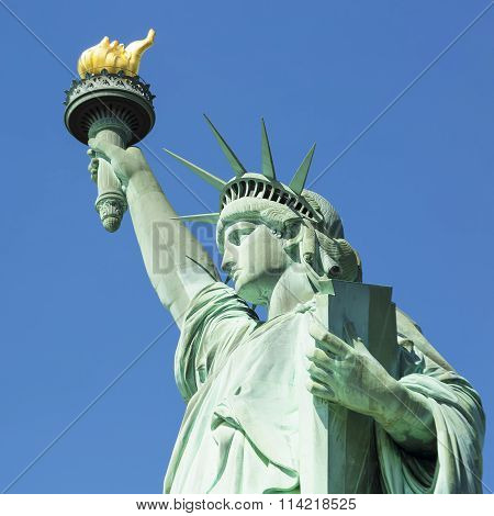 View Of Famous Statue Of Liberty