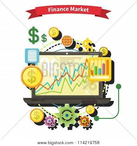 Finance Market Concept