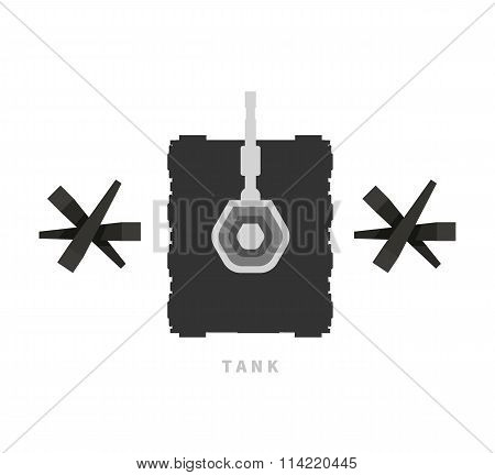 Military Tank Flat Design Background