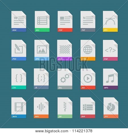 File Formats icons set