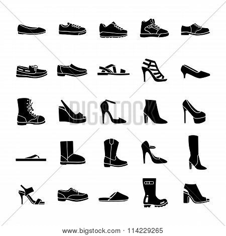 Shoes vector icons