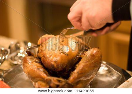 Cutting The Turkey