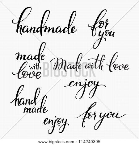 Handmade Lettering Set