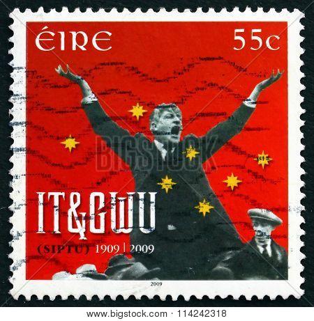 Postage Stamp Ireland 2009 James Larkin, Trade Unionist