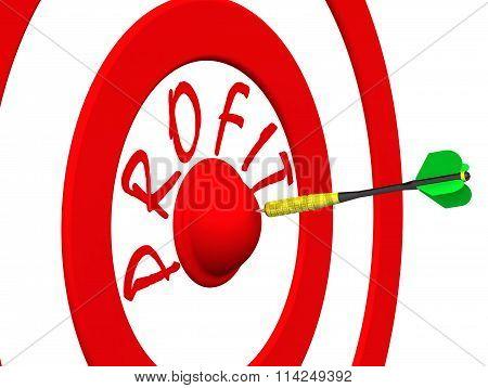 Profit. A dart at the target center