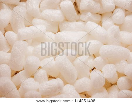 Retro Look White Polystyrene Beads Background