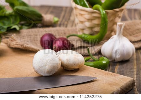 Two Champignons With Vegetables