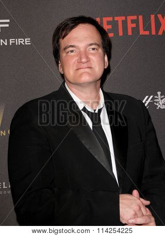 BEVERLY HILLS, CA - JAN. 10: Quentin Tarantino arrives at the Weinstein Company and Netflix 2016 Golden Globes After Party on Sunday, January 10, 2016 at the Beverly Hilton Hotel, Beverly Hills, CA.