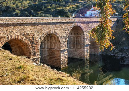 Roman bridge over river Erges
