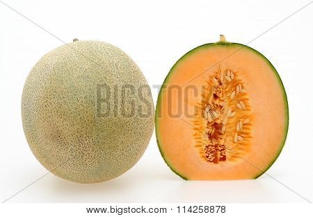 japan melon isolated on white background