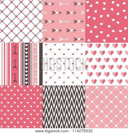 Seamless pattern Valentine's day