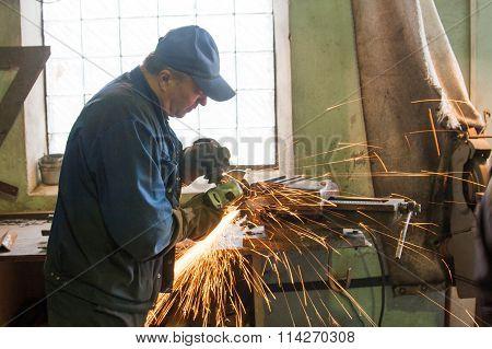 Man turner working
