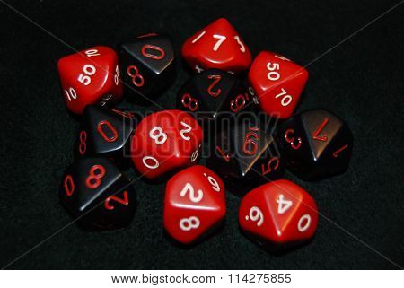 Black & Red Dice