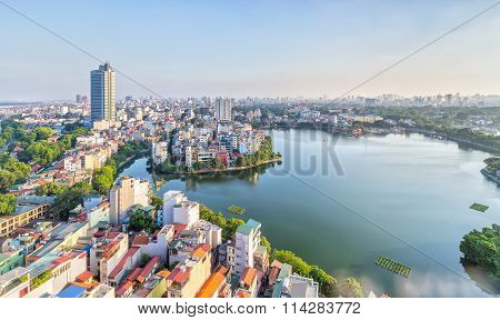 The urban development of capital Hanoi, Vietnam