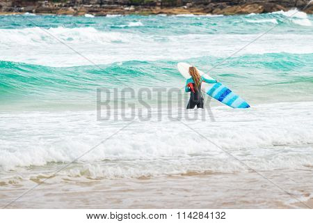 Surfer Girl At Bondi Beach