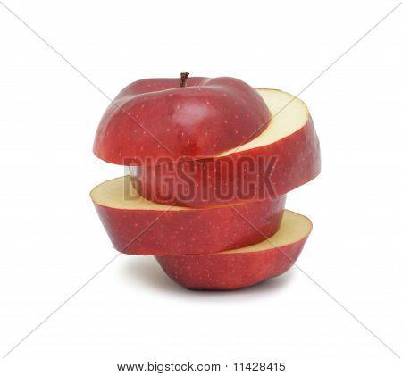Sliced Ripe Red Apple