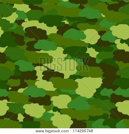Seamless background in green khaki colors. Military seamless wrapping paper. Defender of Fatherland day in February 23. Victory day in May 9. Vector illustration poster