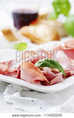 Italian Antipasto With Mortadella Of Bologna