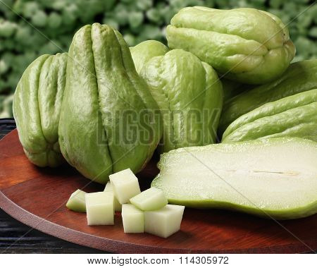 The Chayote (sechium Edule) Is A Vegetable Native To South America.