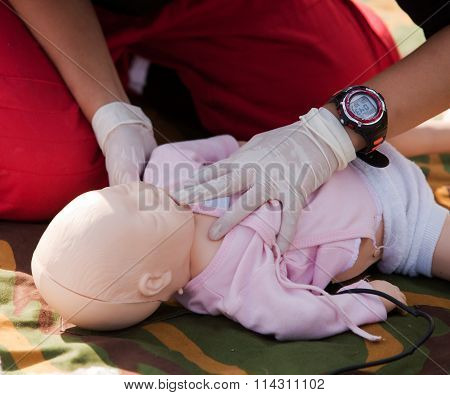 Infant CPR dummy first aid