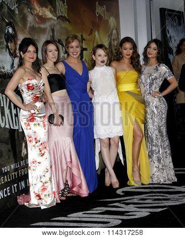 Jena Malone, Carla Gugino, Abbie Cornish, Emily Browning, Jamie Chung and Vanessa Hudgens at the LA premiere of