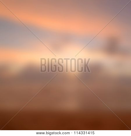Blurred Sunrise Background, Early Morning Light.