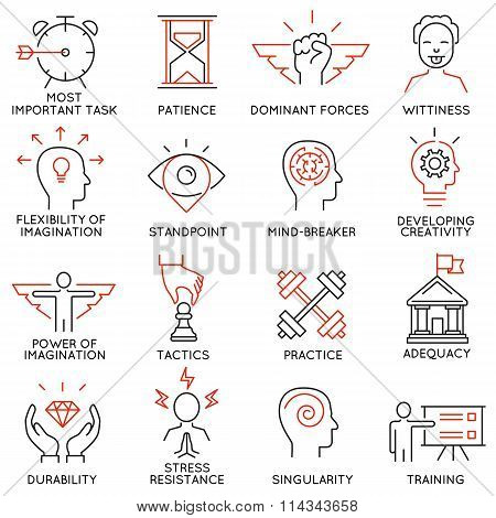 Set of icons related to business management - part 39
