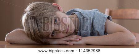 Bored Kid In Bad Mood