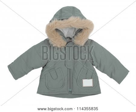 gray jacket isolated on white background