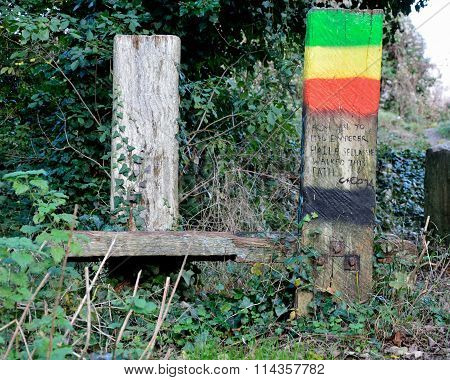 Haile Selassie walked this path