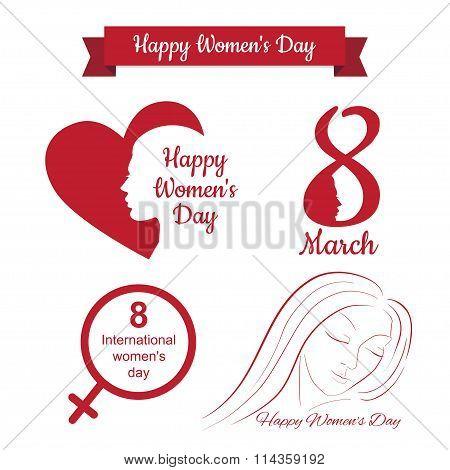 happy womens day design, vector illustration