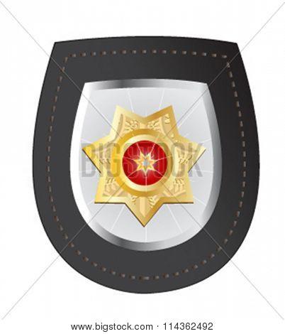 vector illustration of police badge