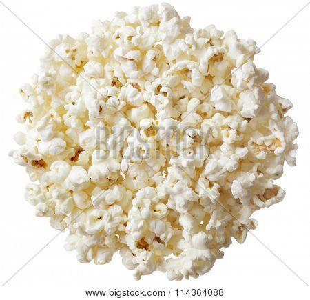 Group of popcorn isolated on white background