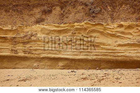 Different soil texture layers for natural background