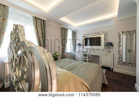 Interior Of A Specious Luxury Bedroom