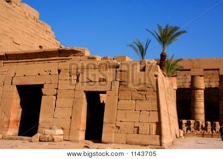 ancient karnak temple in luxor in egypt poster
